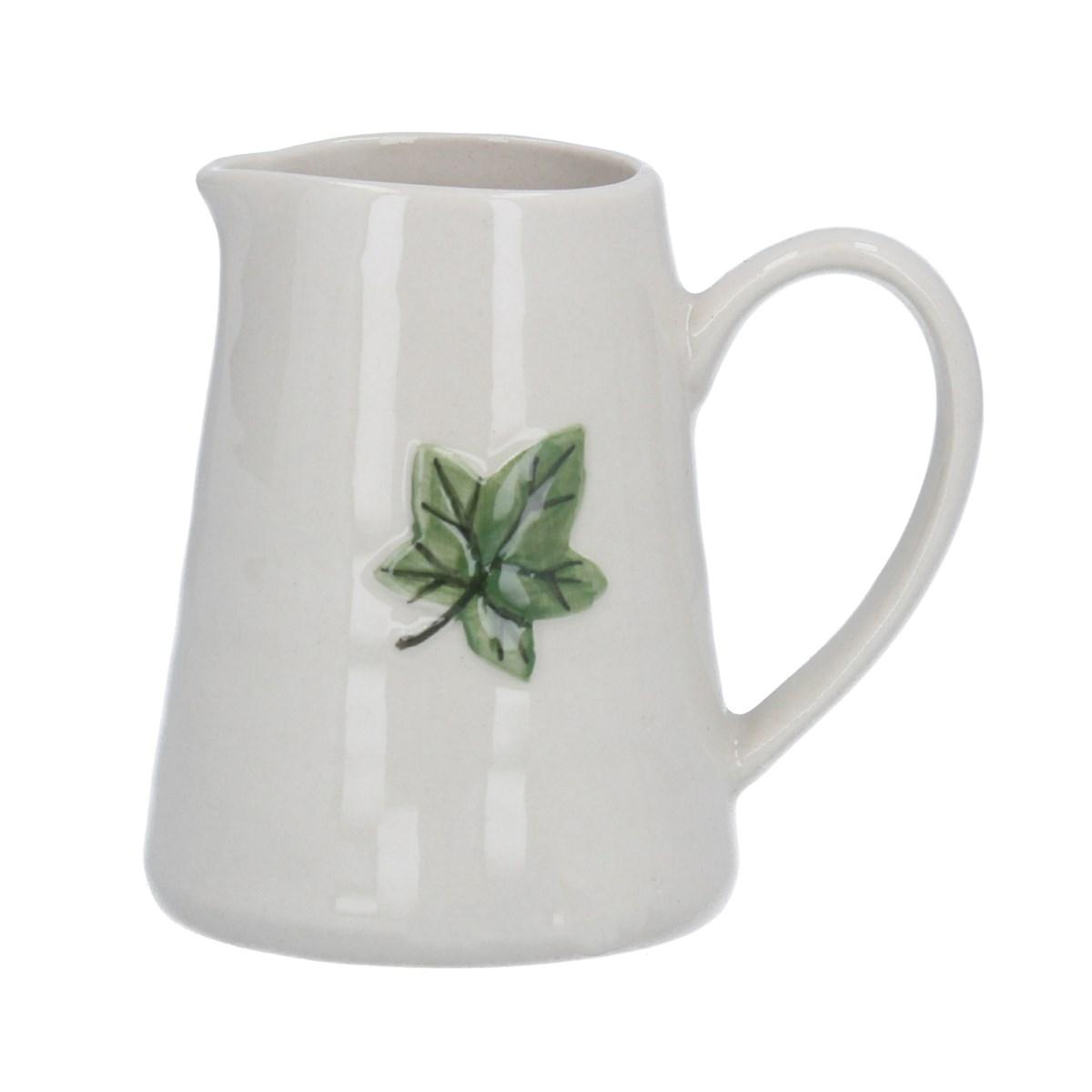 Ceramic Mini Jug Ivy Leaf
